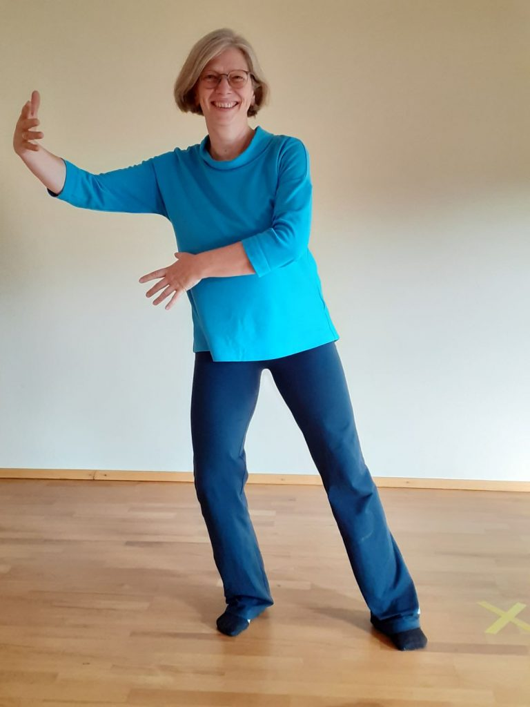 andrea in aktion, qigong