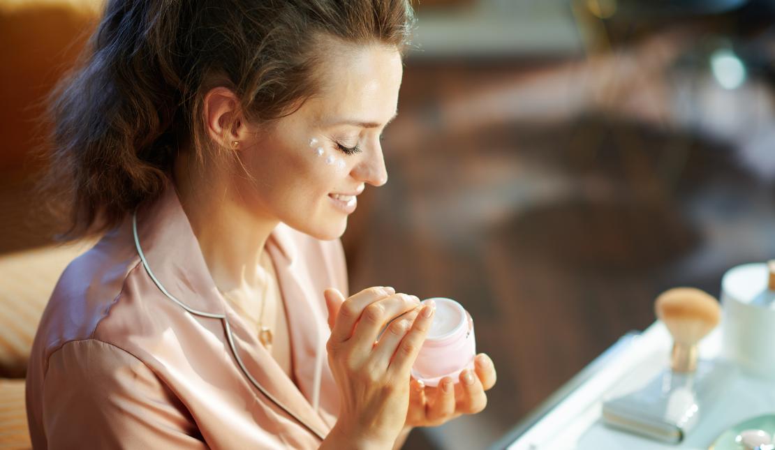 Koffein als Augencreme